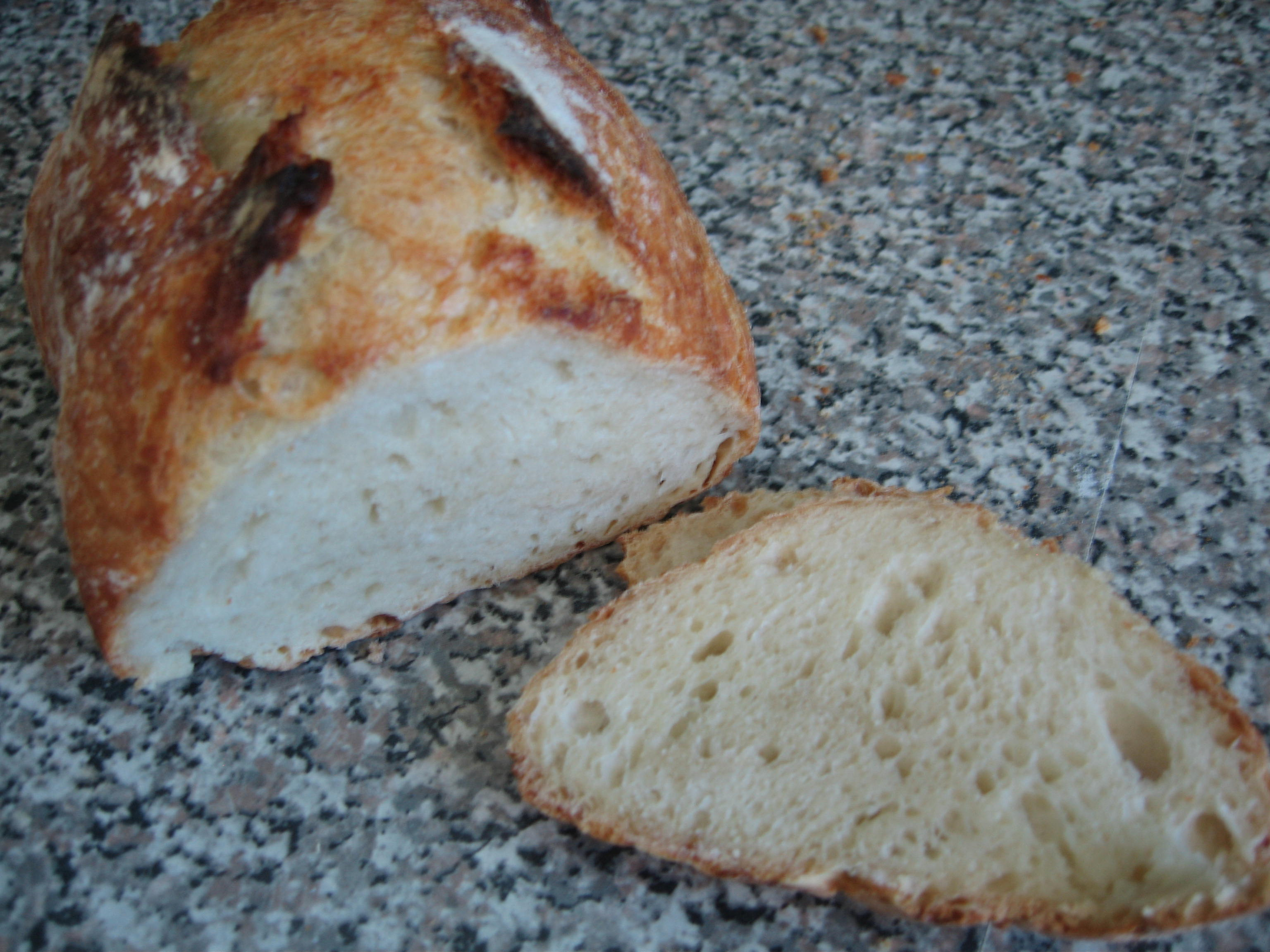 No Knead Bread slice